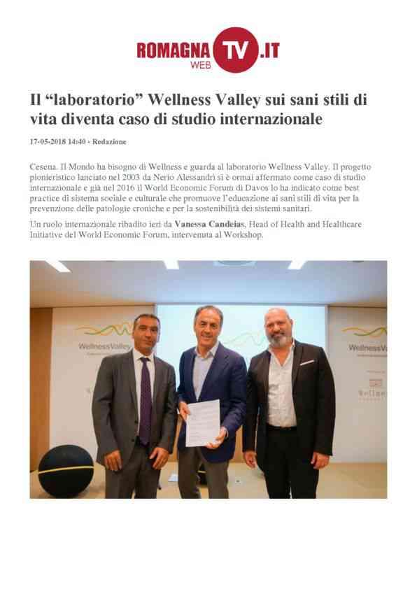 2018-05-17 RomagnaWebTV _Il laboratorio Wellness Valley diventa caso di studio internazionale