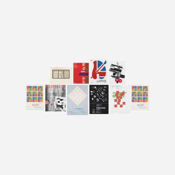 246_1_paul_rand_the_art_of_design_september_2018_various_designers_collection_of_ten_posters_from_t…