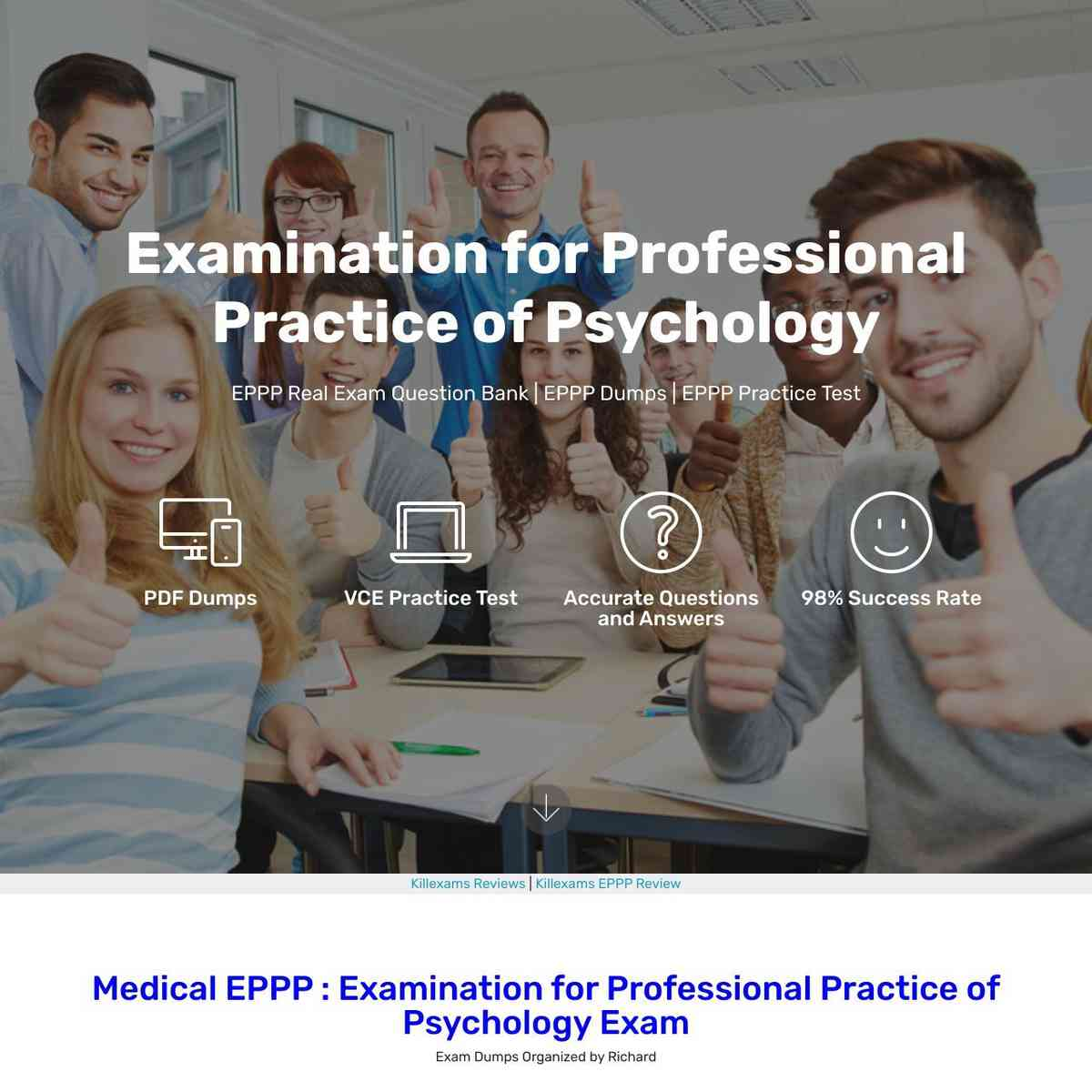 Pass EPPP exam at first attempt with these Exam Questions and Exam dumps
