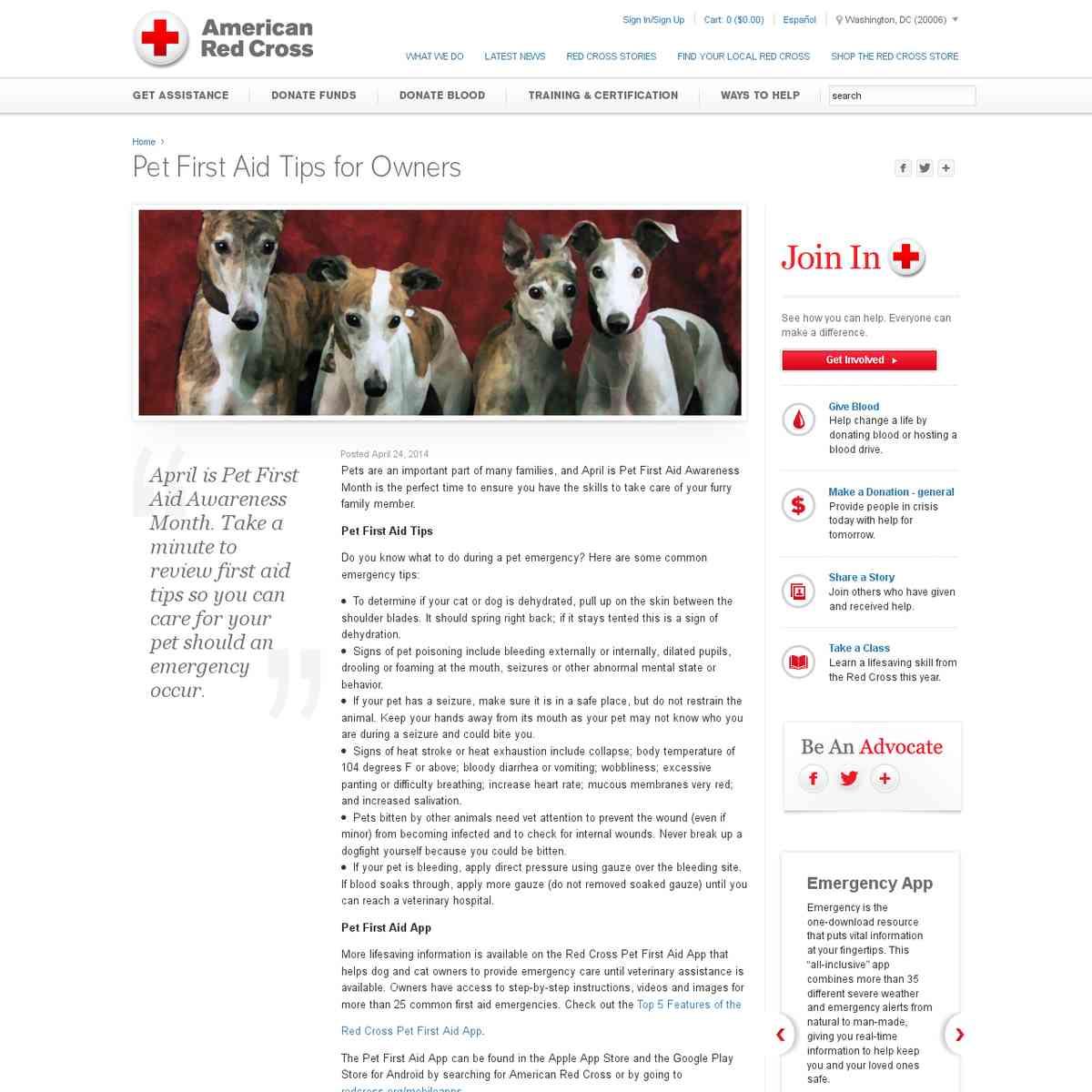 April: Pet First Aid Awareness Month