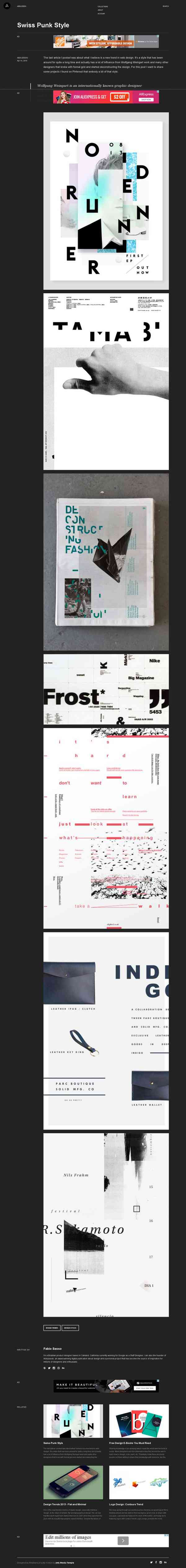Swiss Punk Style | Abduzeedo Design Inspiration