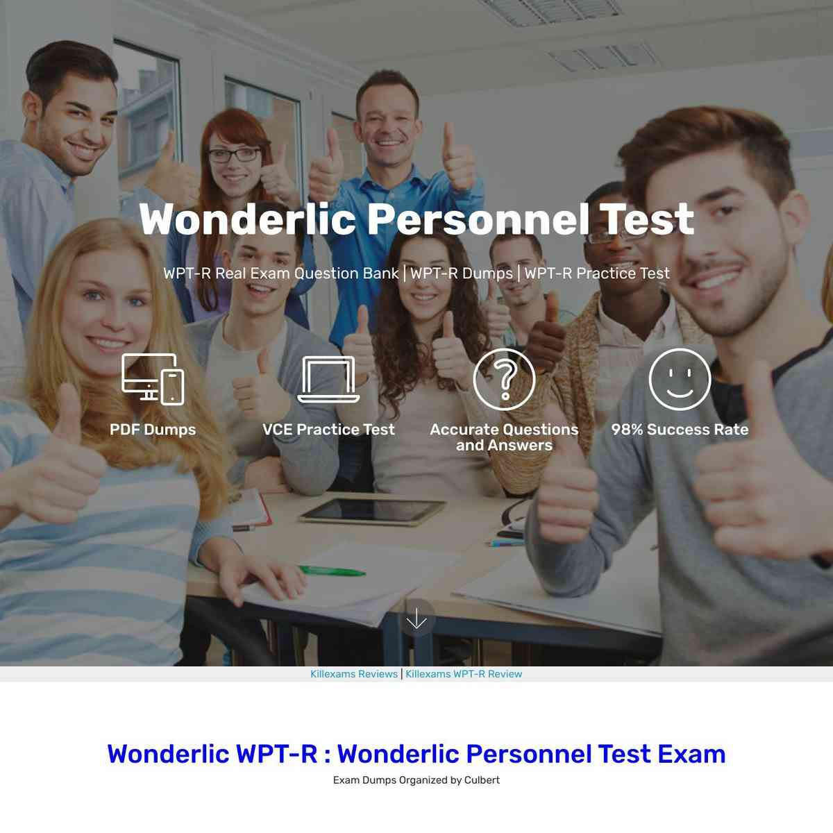Download links for Latest Topics to pass WPT-R exam