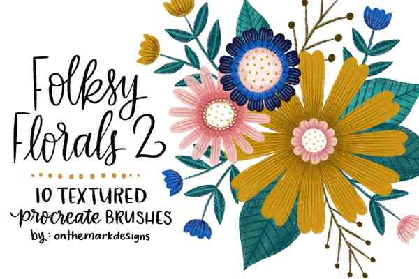 Folksy Textured Procreate Brushes 2