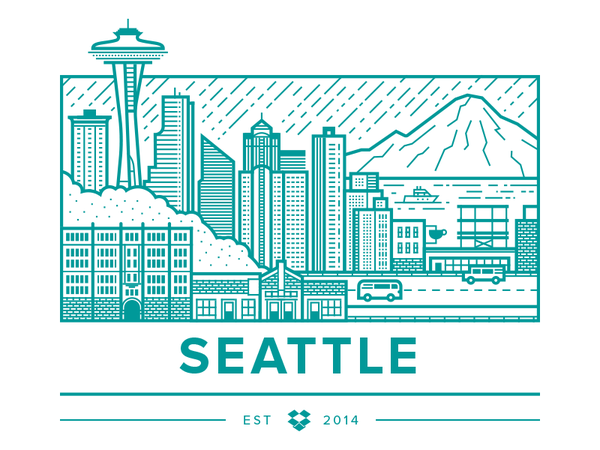 Dropbox Seattle by Brandon Land - Dribbble