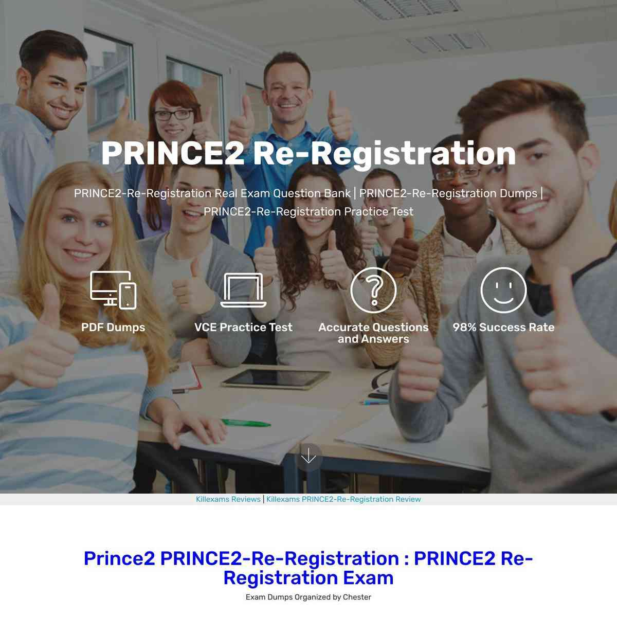 Just study these PRINCE2-Re-Registration Questions and Answers and Pass the test