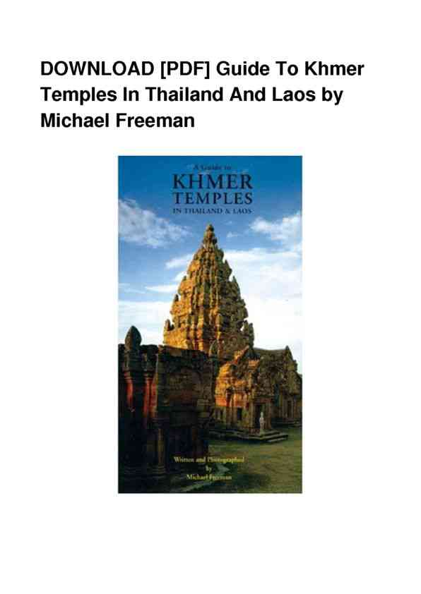 PDF-Guide-To-Khmer-Temples-In-Thailand-And-Laos-DOC