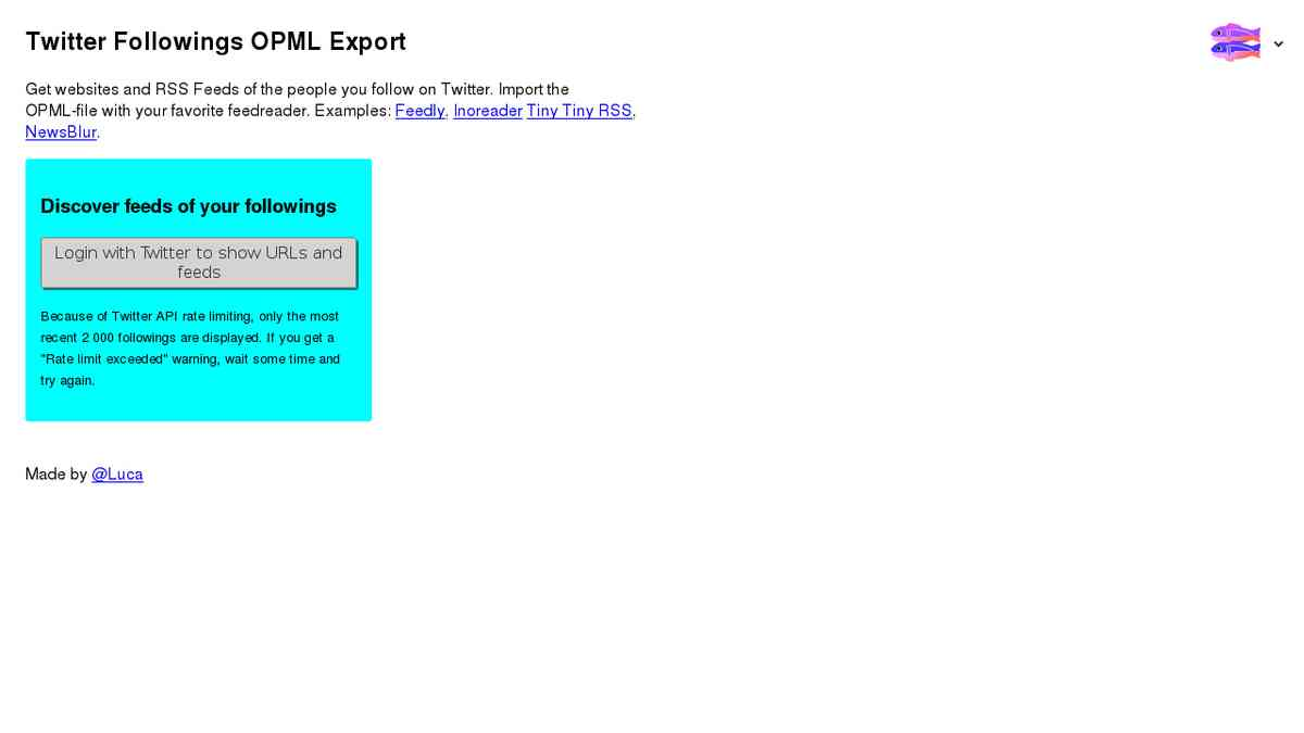 Twitter OPML Export - Grab the websites from profiles and add them to newsreaders and other tools