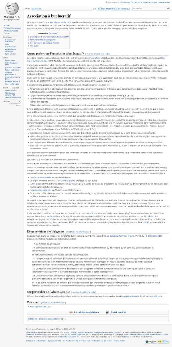 Association à but lucratif - Wikipédia