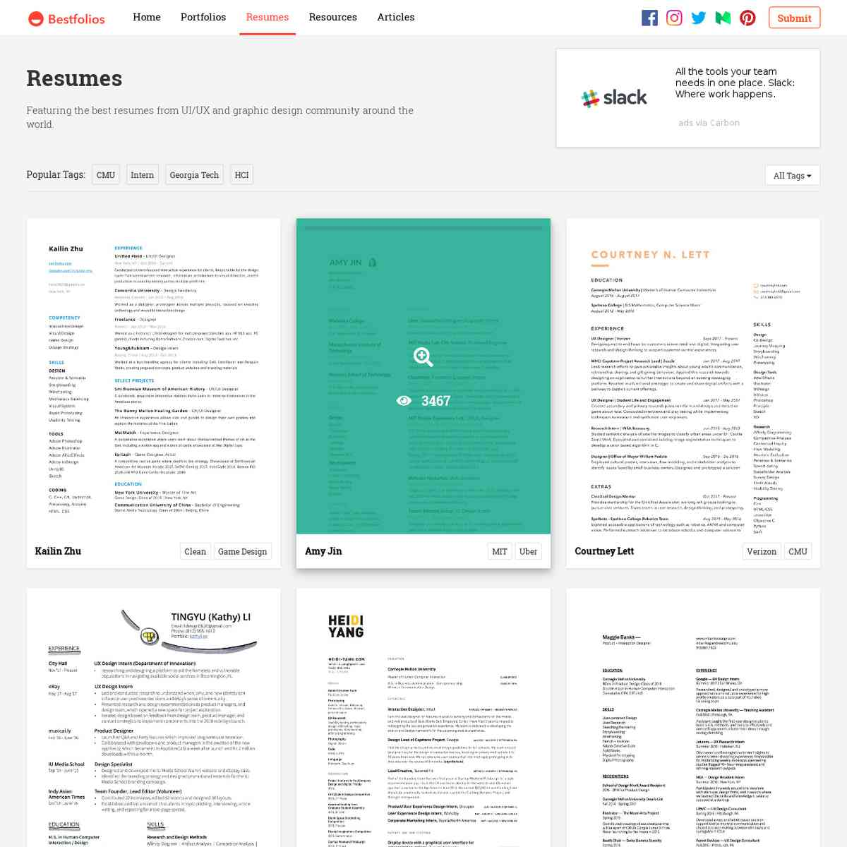 Bestfolios - UI/UX Design Portfolio Inspiration and Showcase