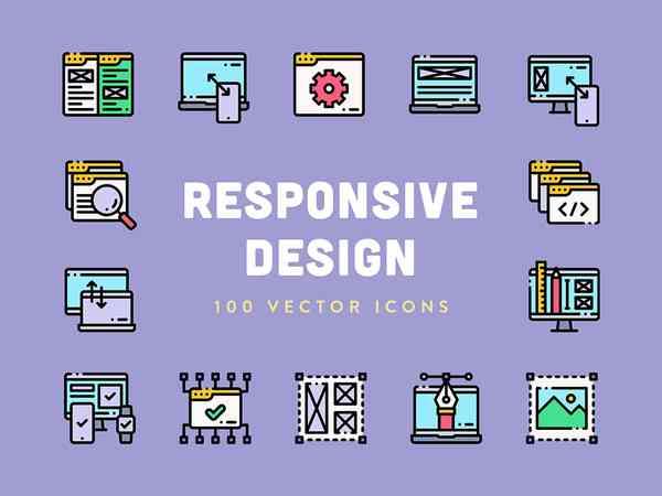 Responsive Design Vector Icons