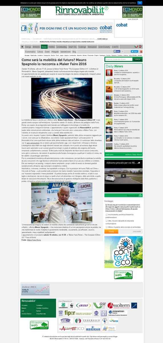 Rinnovabili.it: Mauro Spagnolo, ecco la mobilità del futuro