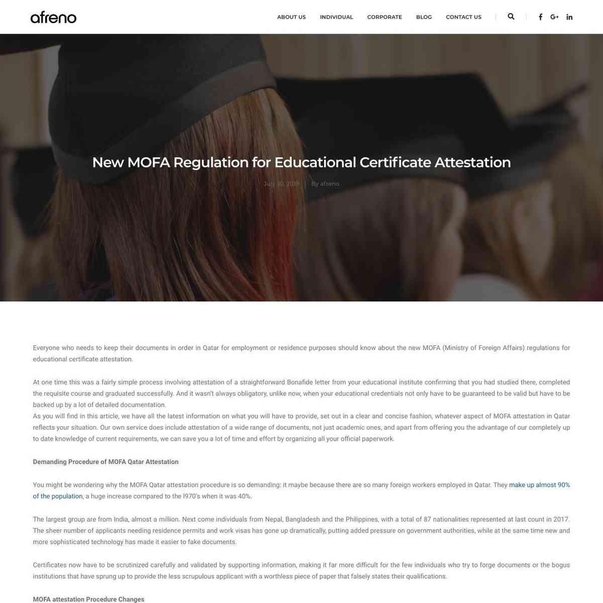 New MOFA Regulation for Educational Certificate Attestation