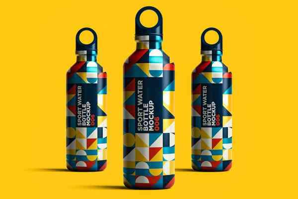 $ Sport Water Bottle Mockup