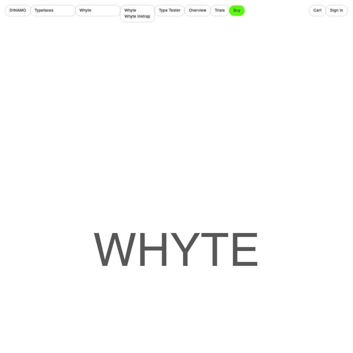 DINAMO: Typefaces: Whyte