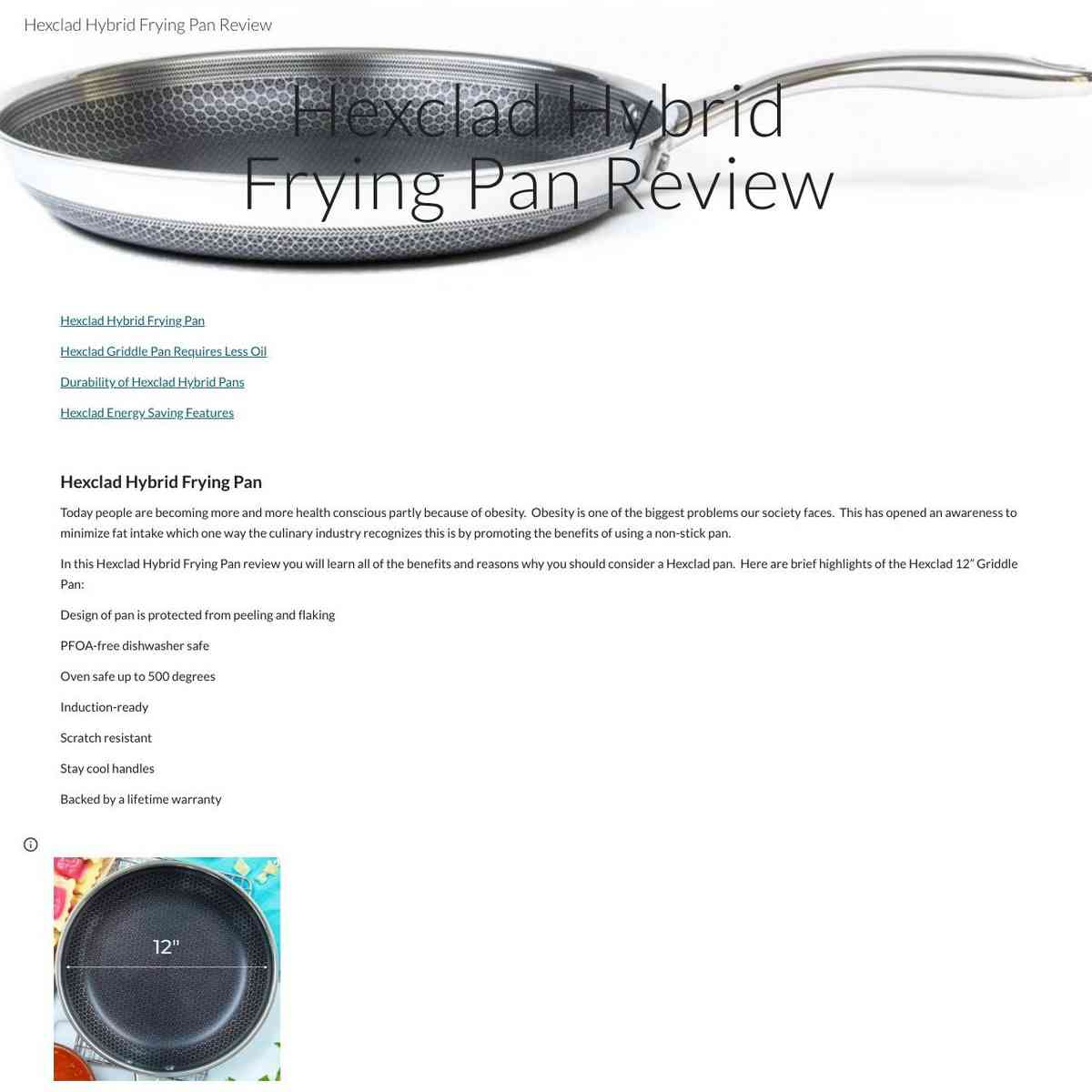 Hexclad Hybrid Frying Pan Review