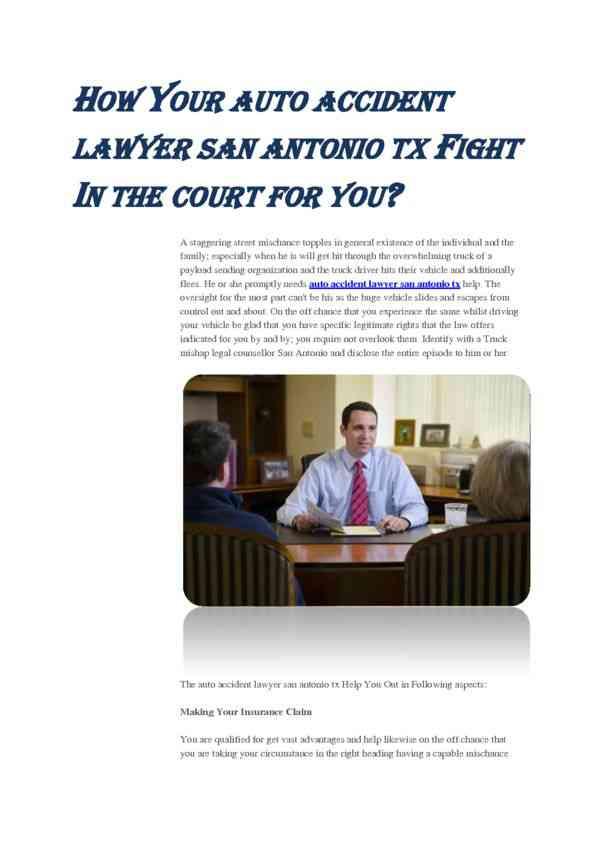 How Your Auto Accident Lawyer Fight in Court for You