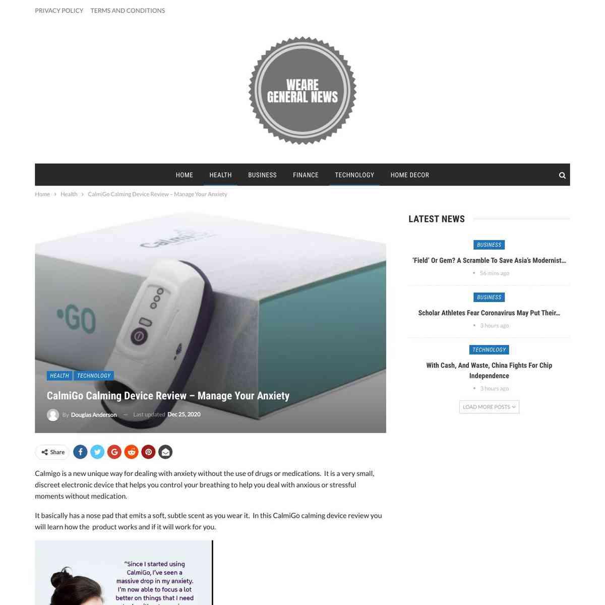Calmigo Calming Device Review