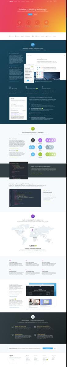 Ghost Features: A modern, flexible, open source publishing platform