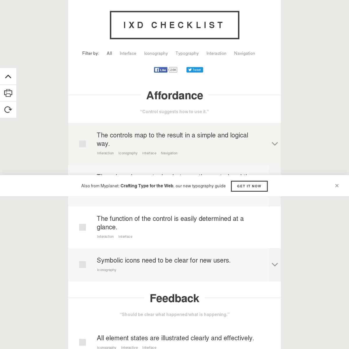 IxD (Interaction Design) Checklist - Myplanet