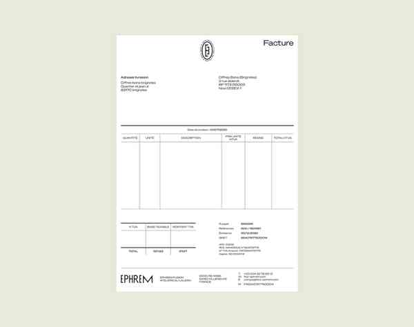 EPHREM | Invoice
