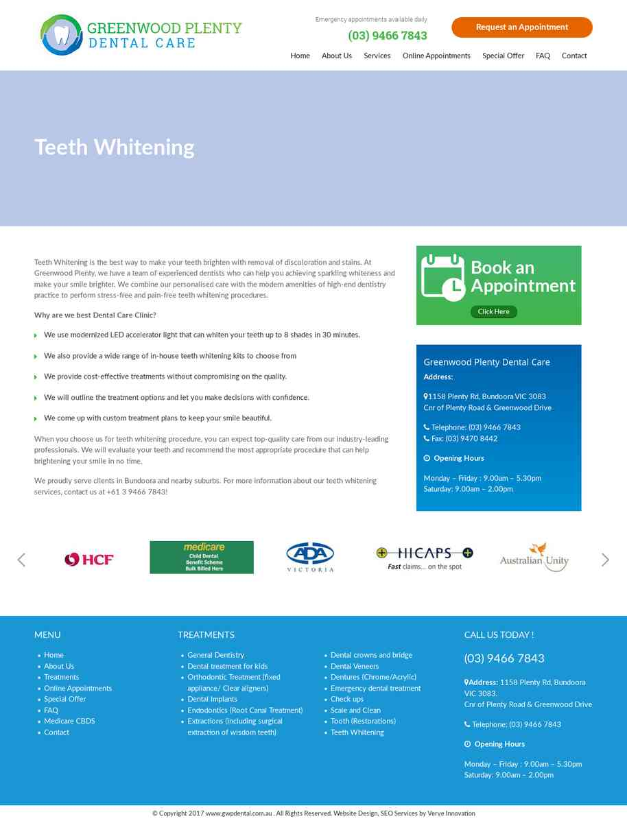 teeth whitening Bundoora