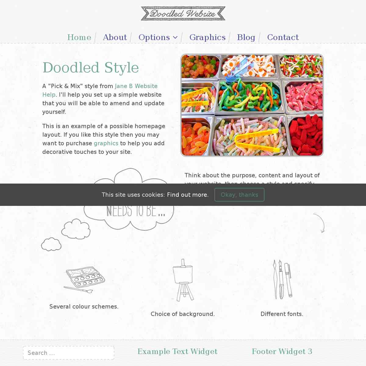 My demo site for the Doodled style