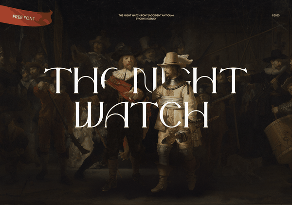 The Night Watch Font