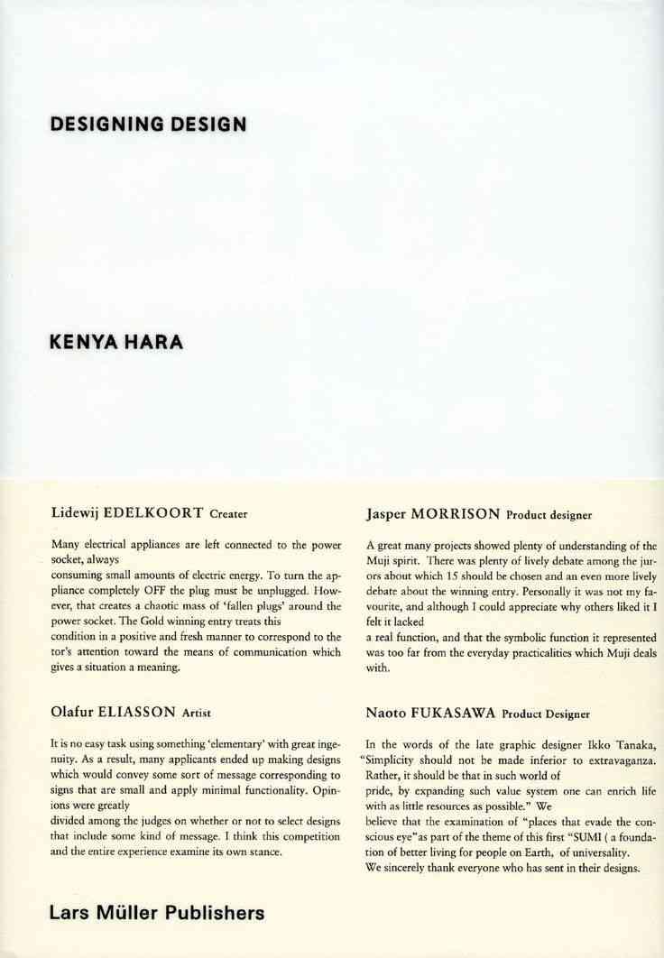 Kenya Hara Designing Design: Amazon.co.uk: Kenya Hara: 9783037784501: Books