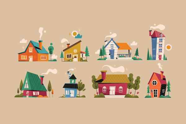 $ House Illustration Set
