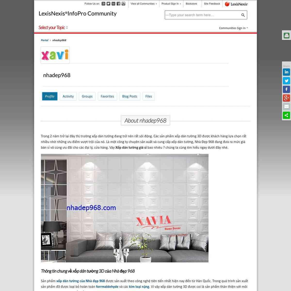Thông tin chung về xốp dán tường 3D của Nhà đẹp 968