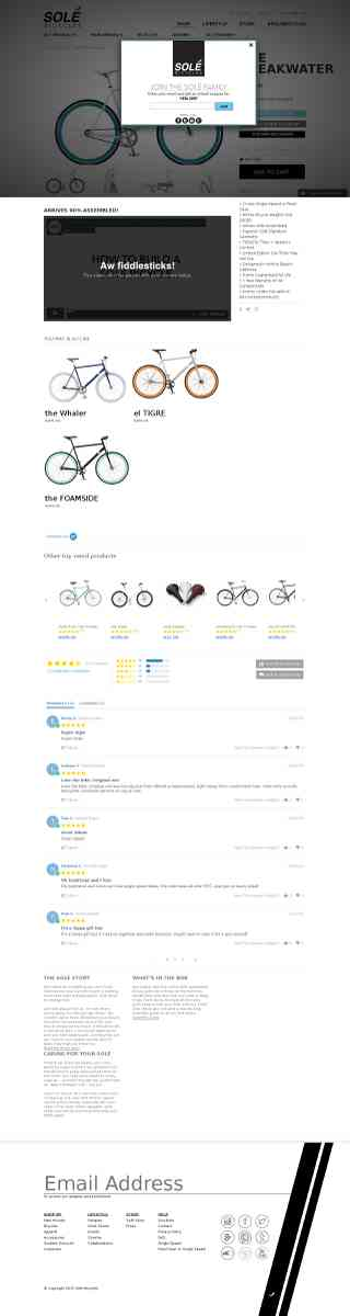 Solé Bicycles — the Breakwater - $379 Fixed Gear & Single Speed bike for Sale by Solé Bicyc…