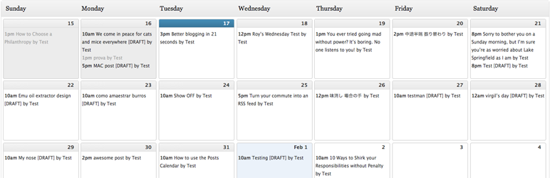 Editorial Calendar — WordPress Plugins