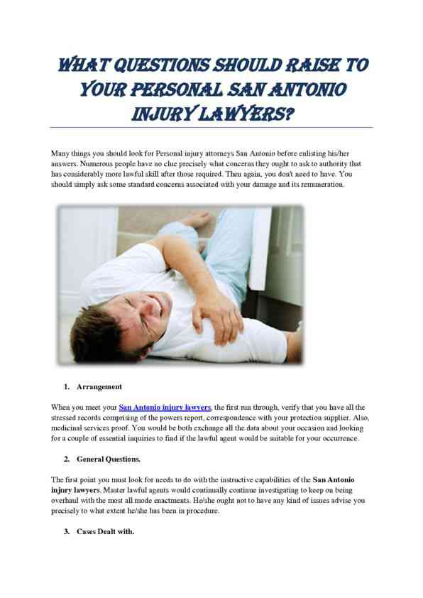 What Questions should Raise to Your Personal Injury Lawyer