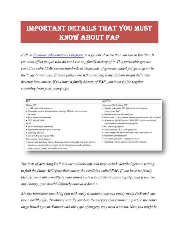 Complete details about FAP