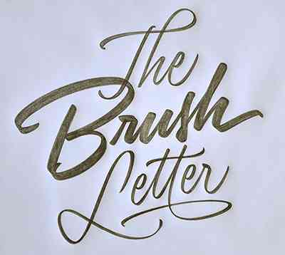 Brush Letter by Ken Barber