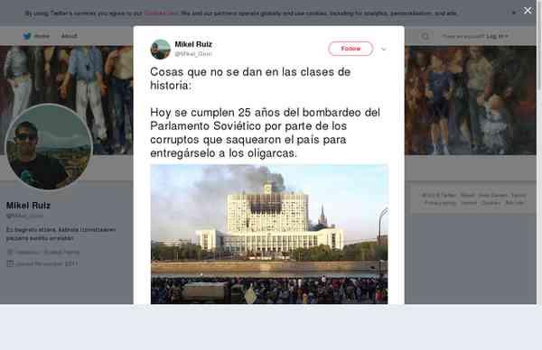 """Mikel Ruiz en Twitter: """"Cosas que no se dan en las clases de historia: Hoy se cumplen 25 años del …"""