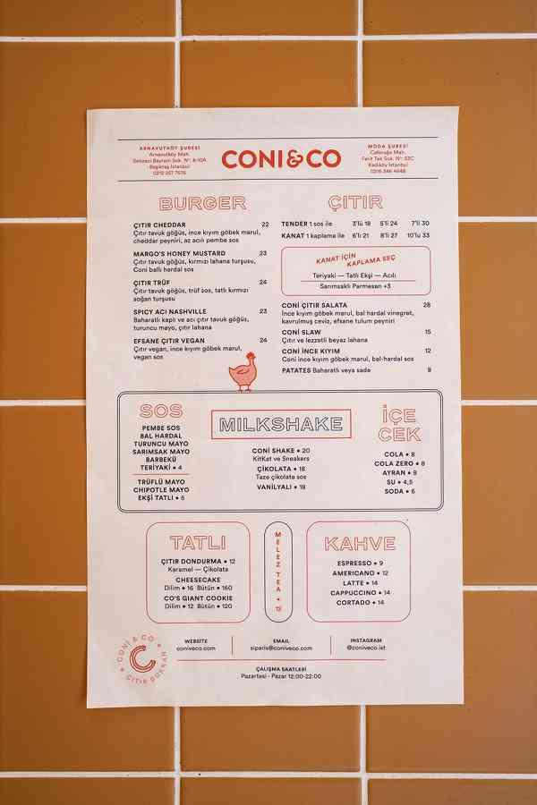 Coni&Co | Food menu