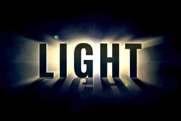 Illuminating Light Text Effect