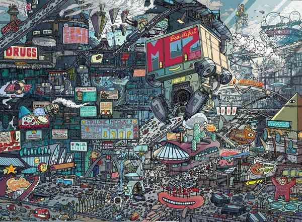 Judge Dredd: Mega City Two illustration