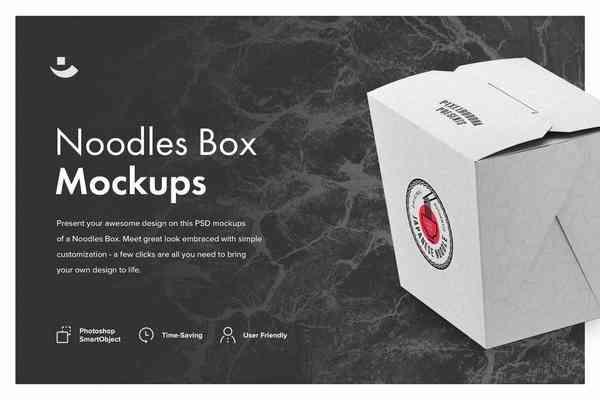 $ Noodles Box Mockup Set