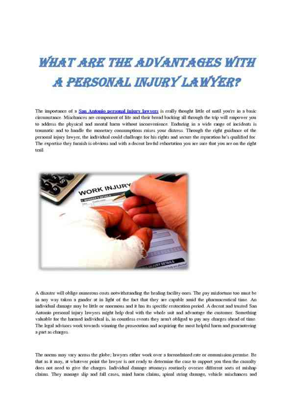 What are the Advantages with Personal Injury Attorney