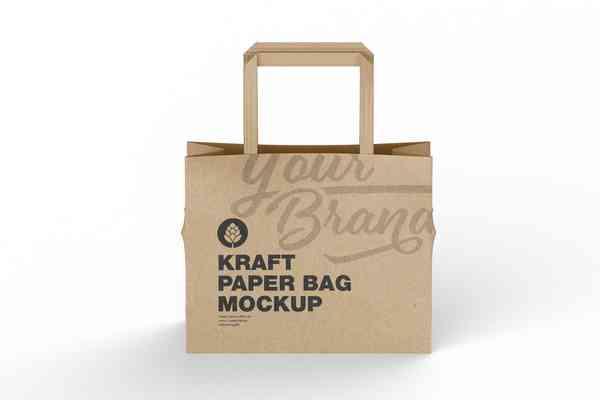 $ Shoping Kraft Paper Bag Mockup