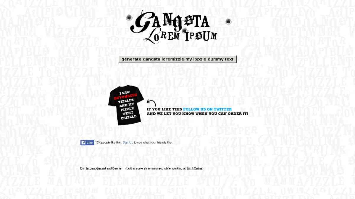 Gangsta Lorem Ipsum