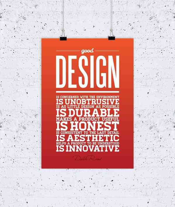 What Design Is Good Design poster — Osvaldas Valutis