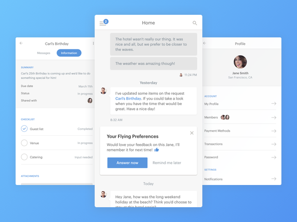 Personal Assistant App by Hanson Wu - Dribbble