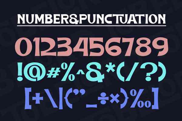 TOBELORD Font | Numbers