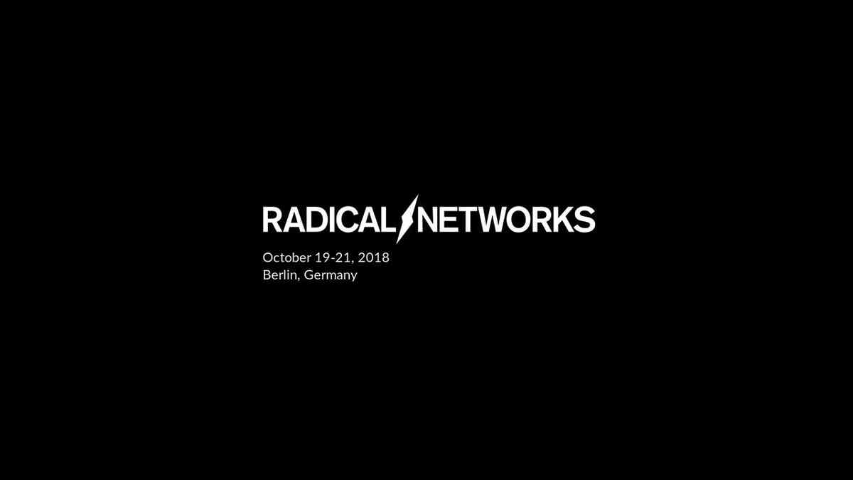 On Weaponised Design - Radical Networks