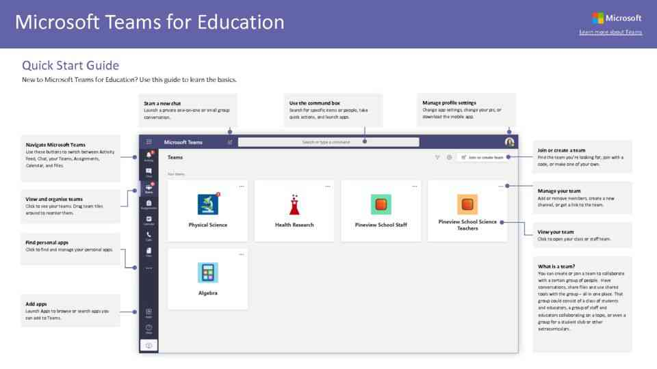 Teams for Education: QuickGuide
