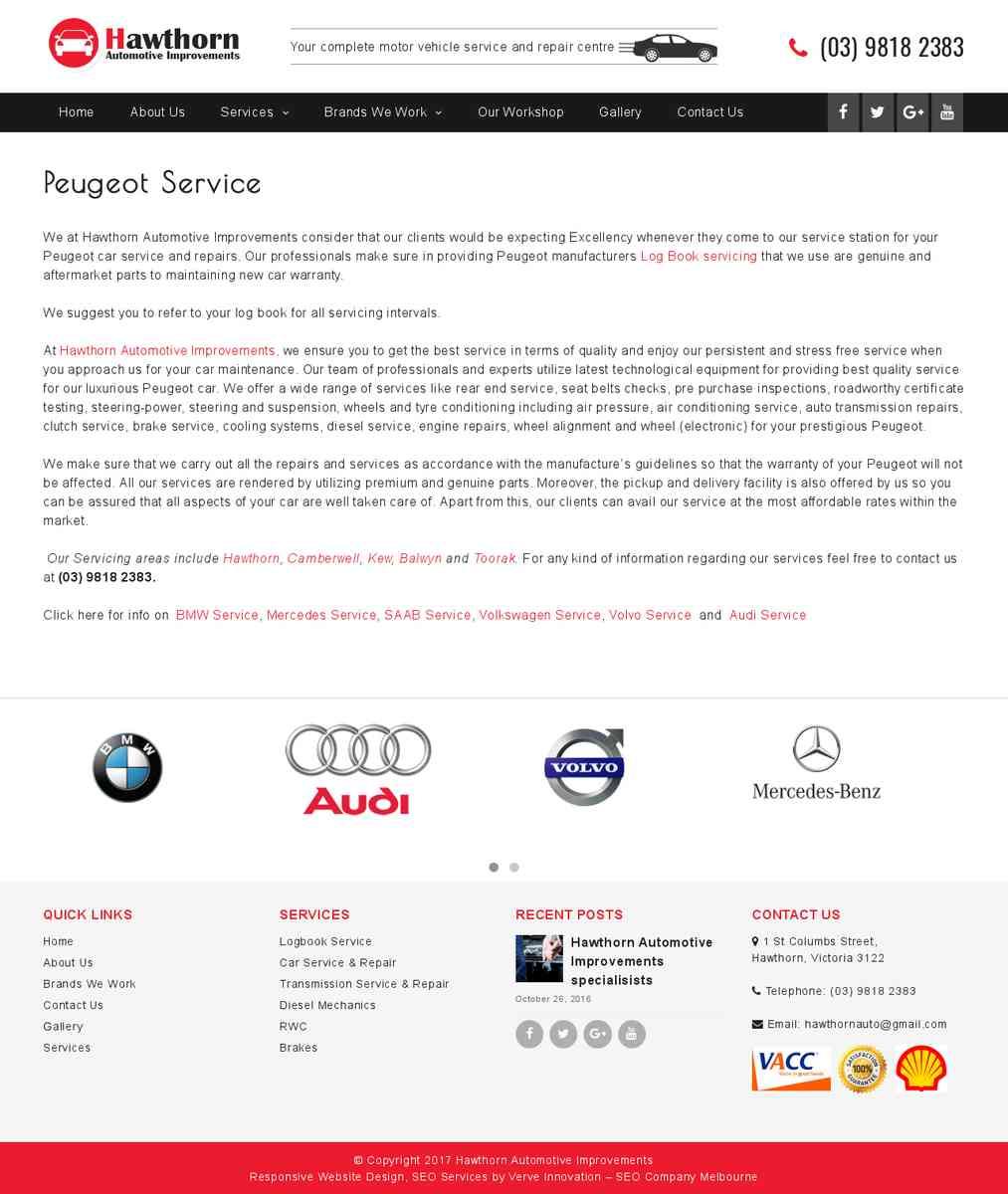 Peugeot Service Balwyn