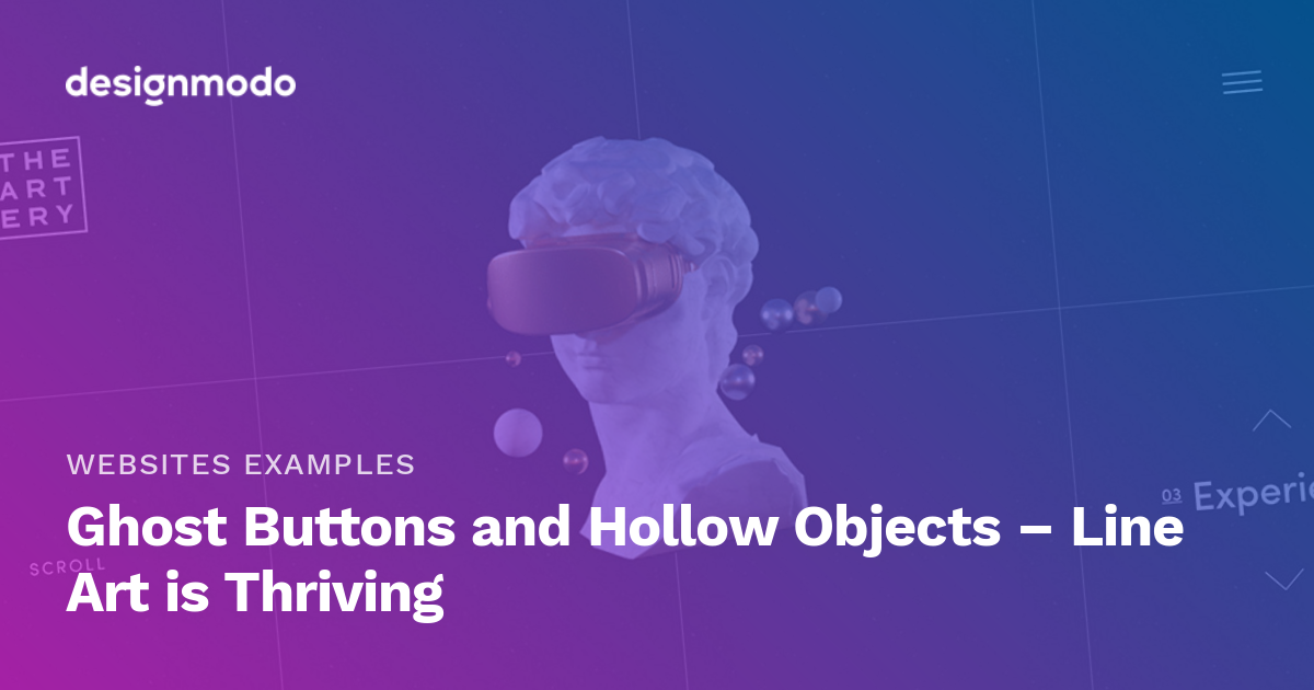Ghost Buttons and Hollow Objects - Line Art is Thriving - Designmodo